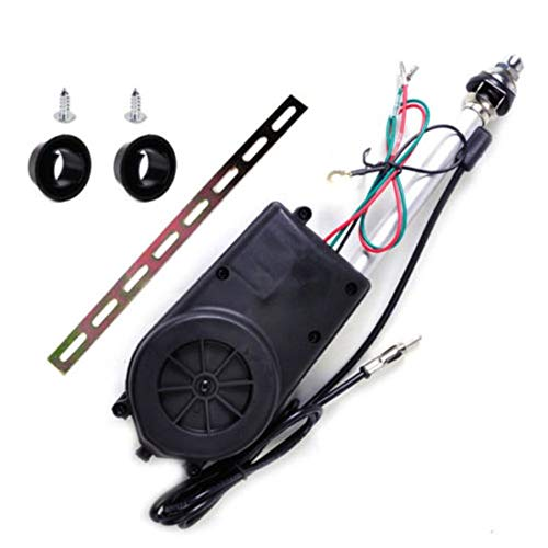 Universal 12V Car Automatic Antenna Aerial Kit Auto AM&FM Radio Electric Power Mast Aerial