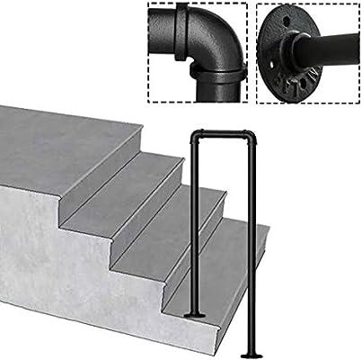KDJJH con Kit de Montaje Barandas Escalera, en Forma de U de transición Pasamanos Barandilla 1 o 2 Pasos Pasamanos Escalera Negro Mate Pasamanos para Escaleras,85cm(2.8ft): Amazon.es: Hogar