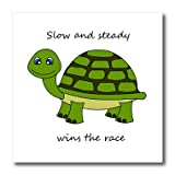 Slow and steady wins the race! green turtle iron on heat transfer is a great way to jazz up a plain T-shirt, pillow case or any other light color fabric. The transfer is transparent and should be applied only to white or light colored material suitab...