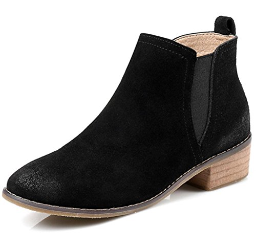 KUKI autumn and winter women boots retro boots scrub women boots cheap boots light casual shoes Black