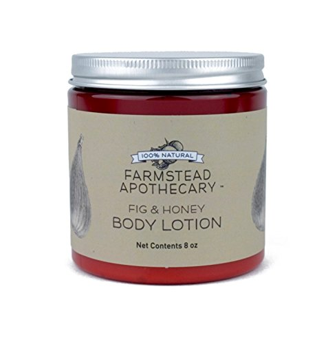 Farmstead Apothecary 100% Natural Body Lotion with Organic Safflower Oil, Organic Sunflower Oil & Organic Vitamin E Oil, Fig & Honey 8 oz