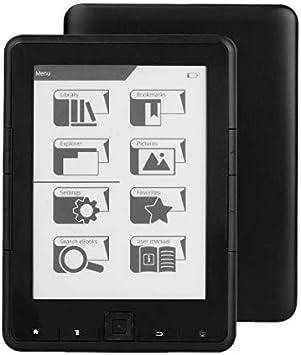 Nrpfell Lector de Ebook de 6 Pulgadas ResolucióN de E-Ink 800X600 4 Lector de Ebook E-Ink Ereader (4G): Amazon.es: Electrónica