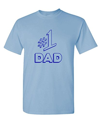 NUMBER 1 DAD - funny seinfeld fathers day - Mens Cotton T-Shirt, XL, Lt Blue (Number One Dad T-shirt)
