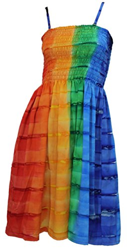 LA LEELA Soft  Tie Dye Beach Womens Tube Dress Wear M105 2504 One Size