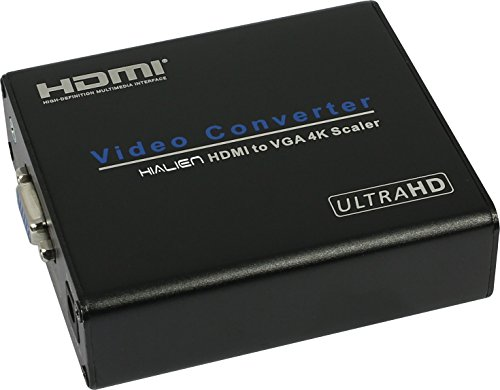 HiAlien 36HV 4kx2k HDMI to VGA Converter 4K game/movie HD video record HDMI video capture HDMI 4K@30HZ to VGA downscaler converter compliant with HDMI 1.4v by HiAlien
