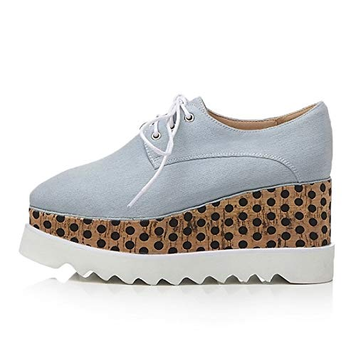 Dark Blue Denim Creepers Blue Dark Zapatos Sneakers Summer Mujer ZHZNVX Comfort Spring Royal amp; Blue de wHPaBqxvF