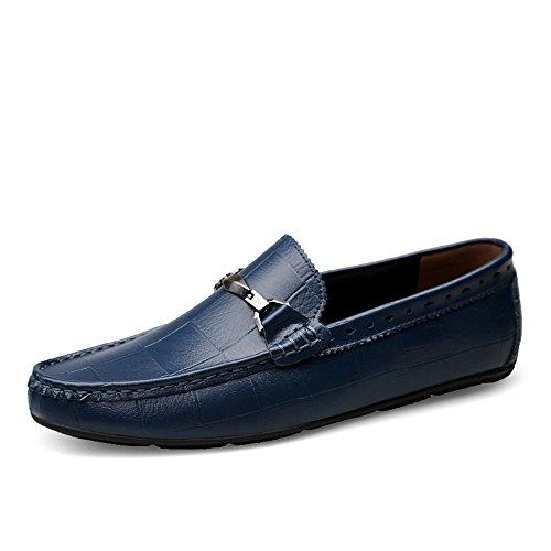 Marine 43 EU L.W.SURL Mocassins de Conduite pour Hommes rétro Slip on Loafers Chaussures de Conduite décontractées Confortables pour Hommes Poids léger