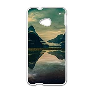 HTC One M7 Cell Phone Case White Milford sound morning JNR2168388
