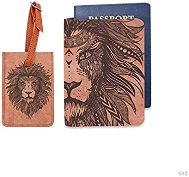 Bisu Bisu personalized Passport Cover and Luggage Tag set Into the woods