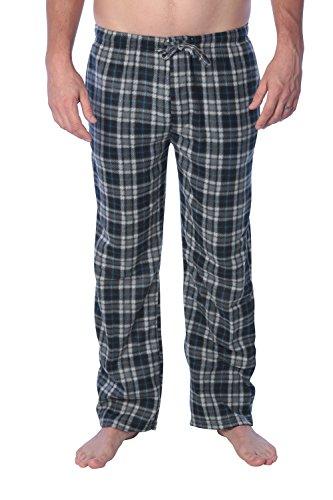 Active Club Fleece Lounge Plaid Pajama Pants For Men - Adjustable Waistband (Fleece Lounge Plaid Pants)