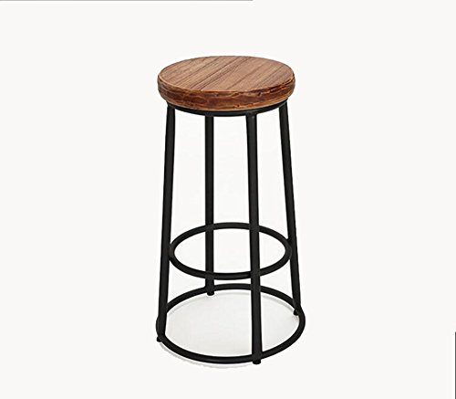 Retro Solid Wood Bar Stools / Simple High Chair / Bar Stool / Front Desk Chair / Modern High Stool ( Style : Wood ) by Xin-stool