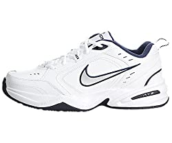 The Nike Air Monarch IV Men's Training Shoe delivers lightweight cushioning, solid support and excellent traction, along with an updated, sleek design built for rigorous training on the field and in the gym.