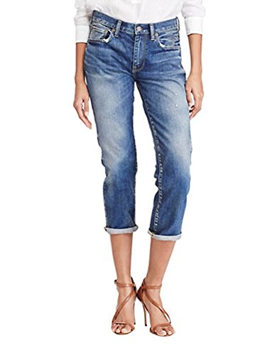Lauren Straight Leg Jeans (Polo Ralph Lauren Distressed Straight-Leg Jeans (Indigo, 27))