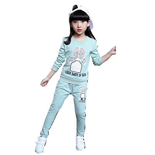 Tracksuits Sweatershirt Pullover Coat + Pants,Blue 150 ()