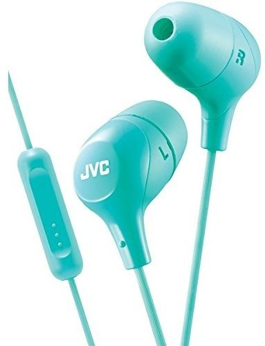 JVC Memory Foam Earbud Marshmallow Memory Foam Earbud with Mic Green (HAFX38MG)