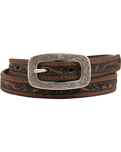 Ariat Women's Embossed Belt Brown Small (Ariat Embossed Belt)