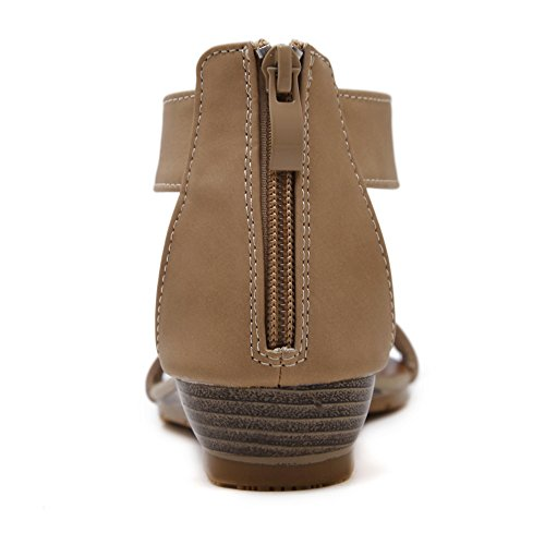 Format Grand Chaussures Féminines A Romain Talon Sandales compensé LXZ à n8x0n6