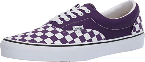 Vans Unisex Era Skate Shoes, Classic Low-Top Lace-up Style in Durable Double-Stitched Canvas and Original Waffle Outsole (7.5 M US Women / 6 US Men, Violet Indigo/True White)