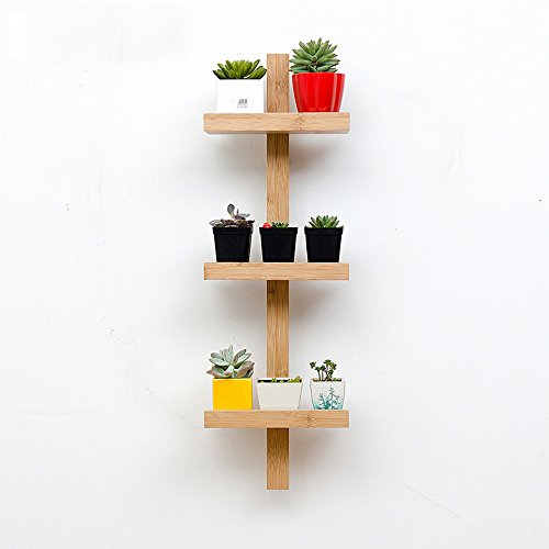 Shelves MEIDUO Storage Rack Wood Wall Mounted Organizer for Bedroom, Living Room, Bathroom, Kitchen, Office and More 3-Tier,4-Tier,5-Tier (Size : 3 layers) by Shelves (Image #7)