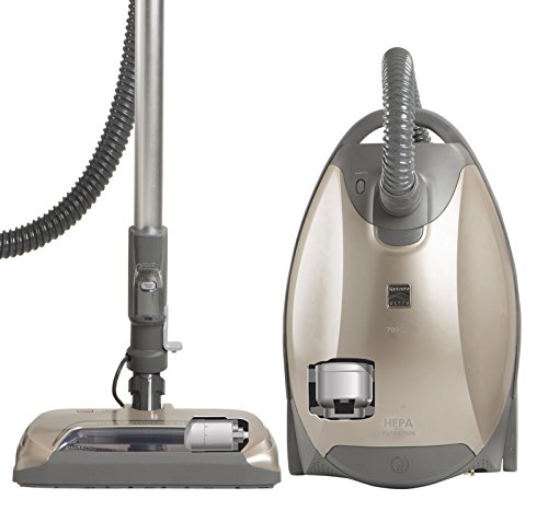 Kenmore Elite 81714 Pet Friendly Ultra Plush Bagged Canister Vacuum in Champagne/Gray ()