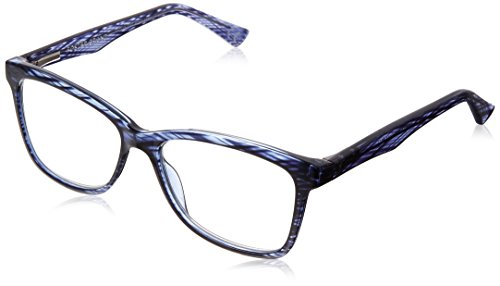 Foster Grant Women's Penelope 1017870-150.COM Square Reading Glasses, Crystal Navy Blue, ()