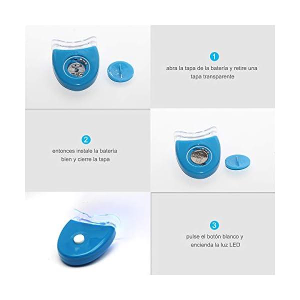 Kit de Blanqueamiento de Dientes, iFanze Blanqueador Dental Profesional, dientes blancos, dientes blancos white, dientes blancos led, dientes blancos luz, reducir manchas dientes 8