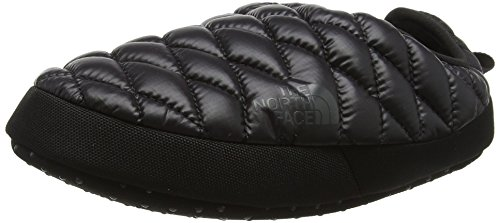 7e40fb596 The North Face Womens Thermoball Tent Mule IV Water Resistant Slippers -  Shiny Black/Baluga Gray - 6-7.5