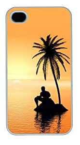 iphone 4 luxury case Landscapes Sunset 5 PC White for Apple iPhone 4/4S