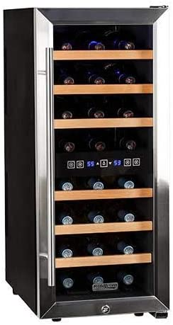 Koldfront 24 Bottle Dual Zone Wine Cooler