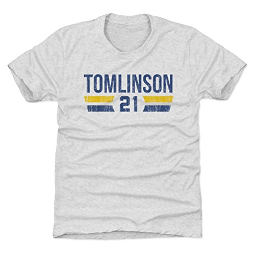 500 LEVEL LaDainian Tomlinson San Diego Chargers Youth Shirt (Kids Large (10-12Y), Tri Ash) - LaDainian Tomlinson Font B ()