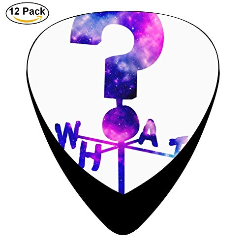 The Mystery Shack Question Mark Weathervane Guitar Picks - Celluloid Plectrums for Guitar Bass,12 pack