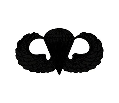 Parachutist Badge - Parachutist Jump Wing Basic US Army Badge (Black Metal)