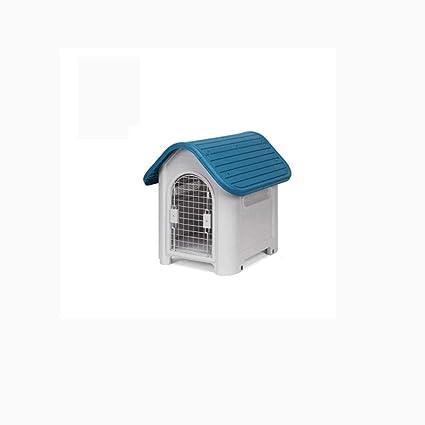 Lijin light Casa de Perro Pequeño Perro Grande y Mediano Pequeño plástico Mascota Casa al Aire
