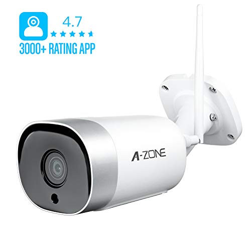 A-Zone LifyShield V1 Wi-Fi Outdoor Security Camera, 1080P, IP66, w/App