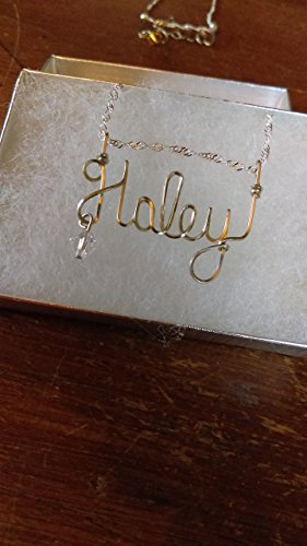 Haley Wire Name necklace, Personalized name, or ANY name on 18