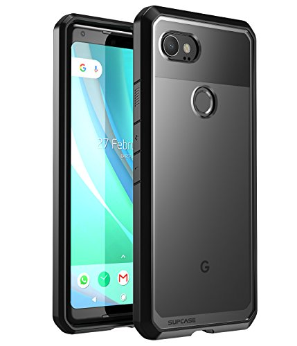 SUPCASE Unicorn Beetle Series Designed for Google Pixel 2 XL Case,Premium Hybrid Protective Clear Case for Google Pixel 2 XL (2017 Release) (Black) (Nexus 6p Unicorn Beetle Hybrid Protective Case)