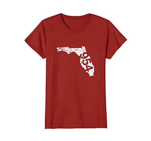 Womens Fort Lauderdale Pembroke Pines Area Code 954 Shirt, Florida Medium - Fit Pembroke You Pines