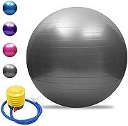 Lixada Yoga Ball Exercise Ball Anti-Burst Yoga Ball Thickened Stability Balance Ball Pilates Physical Fitness