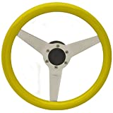Uflex Boat Steering Wheel PONZA-Y/P | 13 1/8 x 3 1/4 Inch Yellow