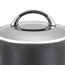 Circulon Symmetry Hard Anodized Nonstick 3-1/2-Quart Straining Saucepan, Black