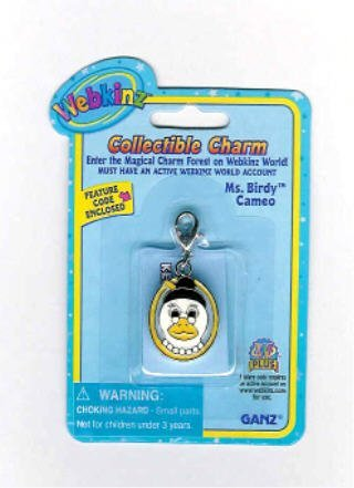 (Webkinz Collectible Charm - MS BIRDY CAMEO)