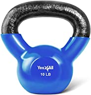 Yes4All Single Vinyl Coated Kettlebell Great quality for Cross Training, MMA Training, Home Exercise, Fitness