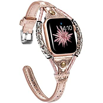 Amazon.com: KEYSJEFF Bling Leather Band Compatible for