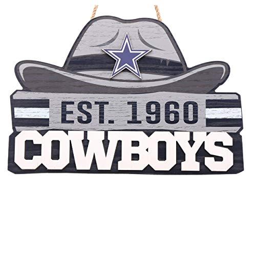 FOCO NFL Dallas Cowboys Die Cut Wood Signdie Cut Wood Sign, Team Color, One Size