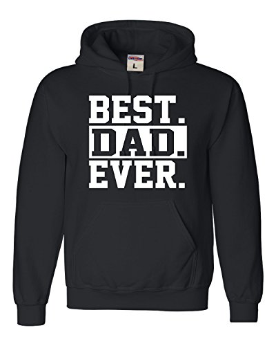 Go All Out X-Large Black Adult Best Dad Ever #1 Dad World's Greatest Dad Father's Day Hooded Sweatshirt Hoodie