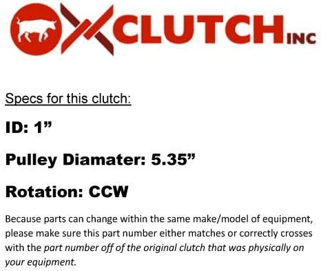 U.S Ox Clutch Inc Replacement for Toro 117-7468 PTO Owned Company