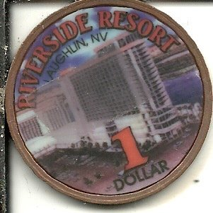 ($1 riverside resort hotel token reno nevada obsolete 1996 new years)