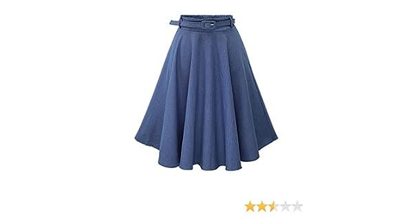 f3f621042 Moollyfox Mujer Faldas Vaquera Cintura Alta Falda Plisada Corto Vestidos De Fiesta  Azul Claro Freesize  Amazon.es  Deportes y aire libre