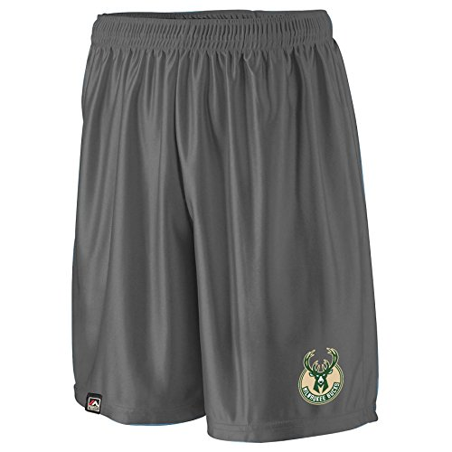 NBA Milwaukee Bucks Men's B&T Poly Fleece Team Shorts, 2X, Charcoal