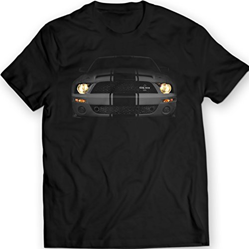 Mustang Shelby GT500 The Cobra Black T-Shirt (L, Black)